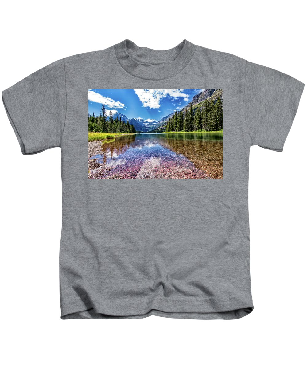Reflection Kids T-Shirt featuring the photograph Lake Reflection by Carol Ward