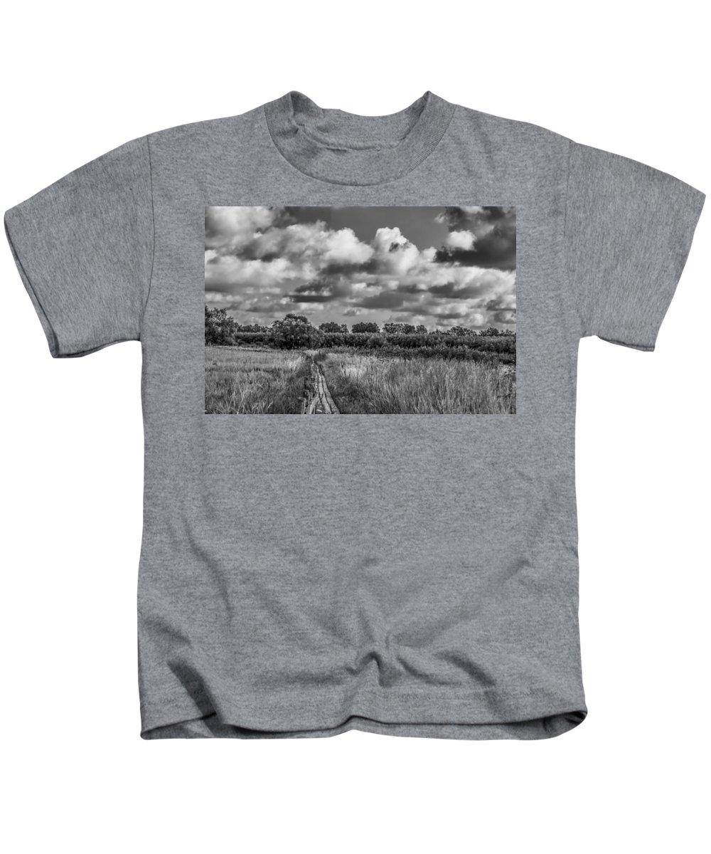 Black And White Kids T-Shirt featuring the photograph Last August 2015 Bw by Leif Sohlman