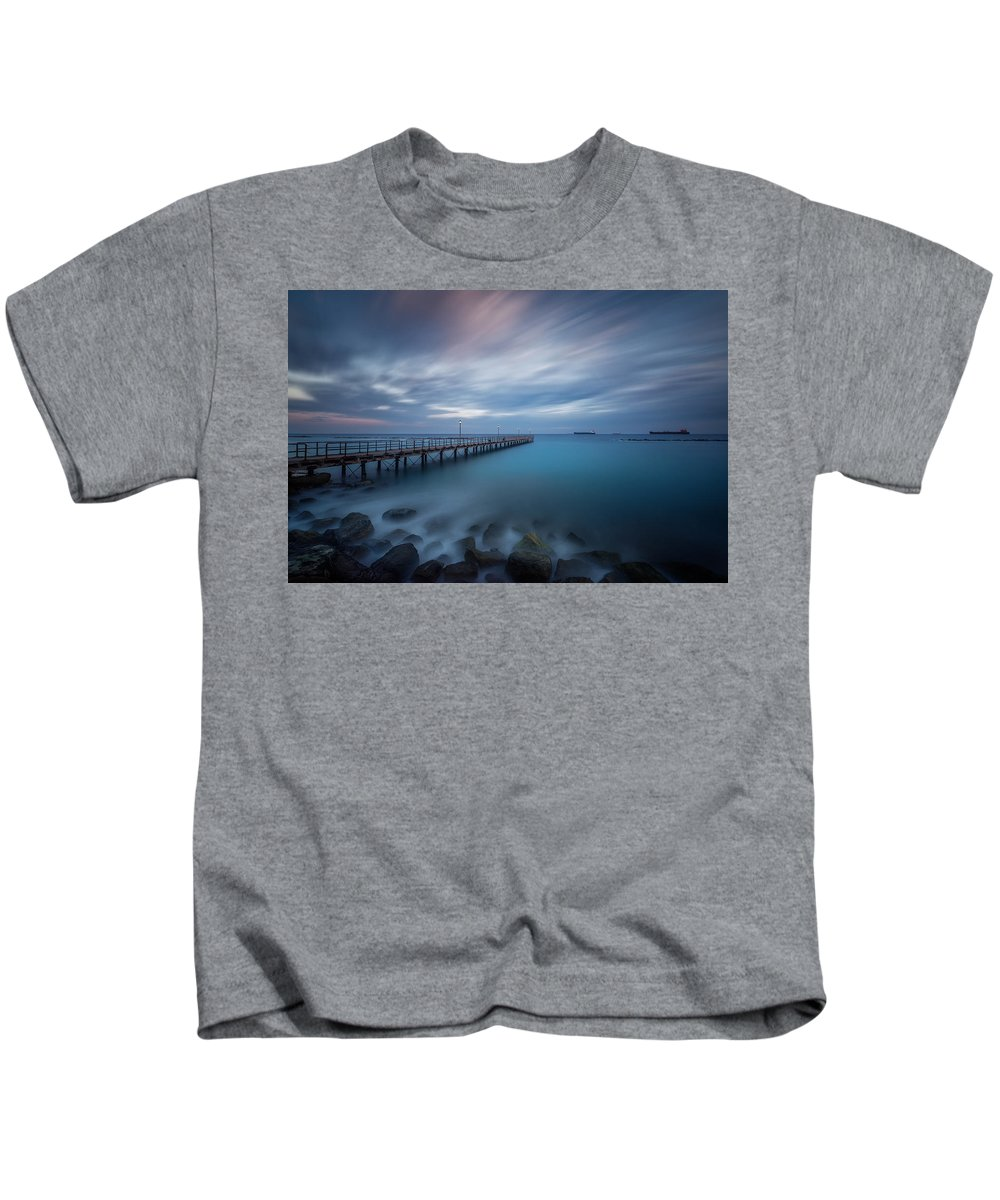 Sunset Kids T-Shirt featuring the photograph Last Light by Charalambos Charalambous