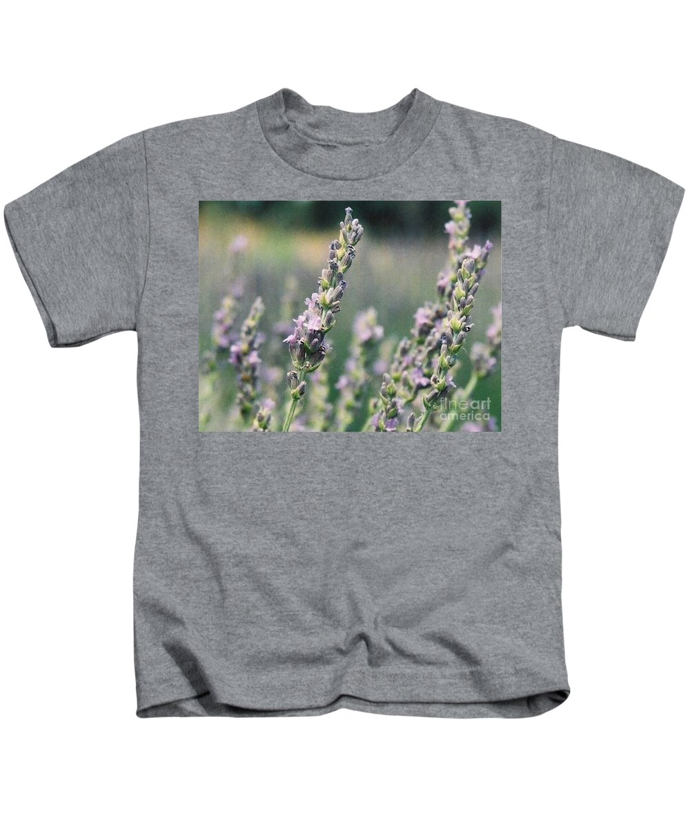 Flowers Kids T-Shirt featuring the painting Lavender by Eric Schiabor