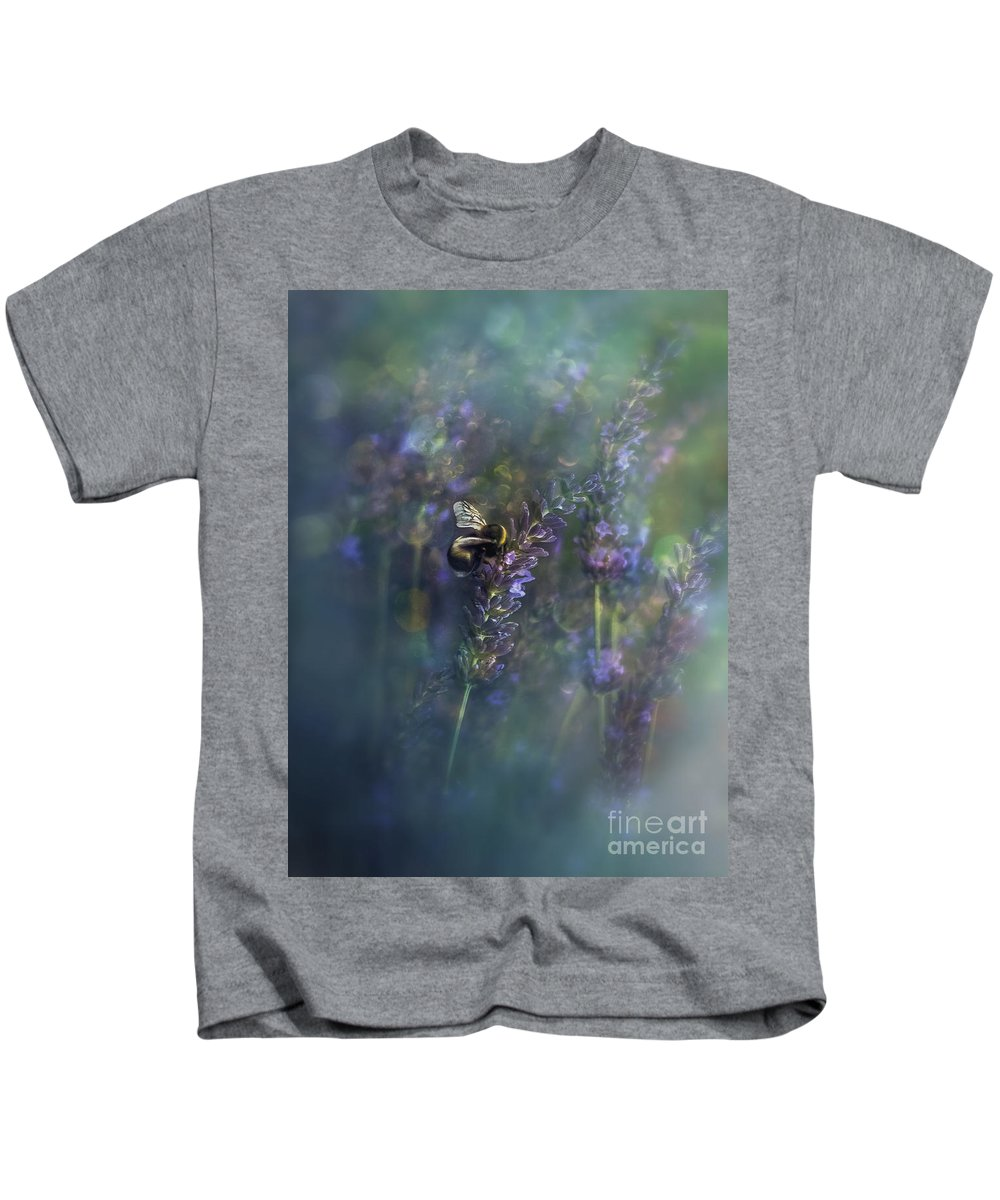Nature Kids T-Shirt featuring the photograph Lavender Field II by Ezo Oneir