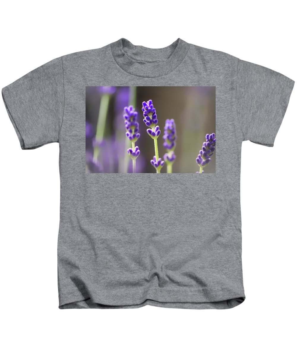 Lavender Kids T-Shirt featuring the photograph Lavender Flower by Martin Newman
