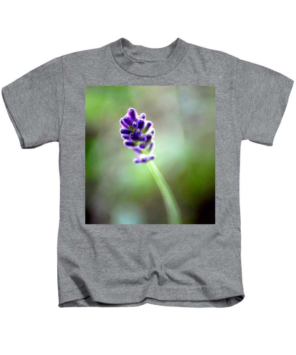Lavender Kids T-Shirt featuring the photograph Lavender Moments by Donna Bentley