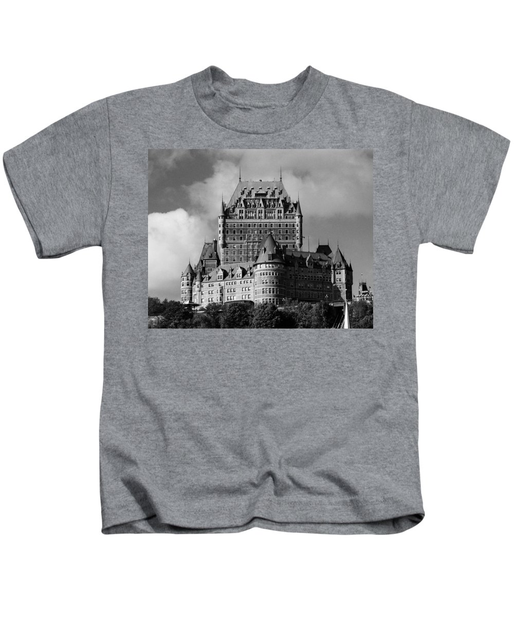 North America Kids T-Shirt featuring the photograph Le Chateau Frontenac - Quebec City by Juergen Weiss