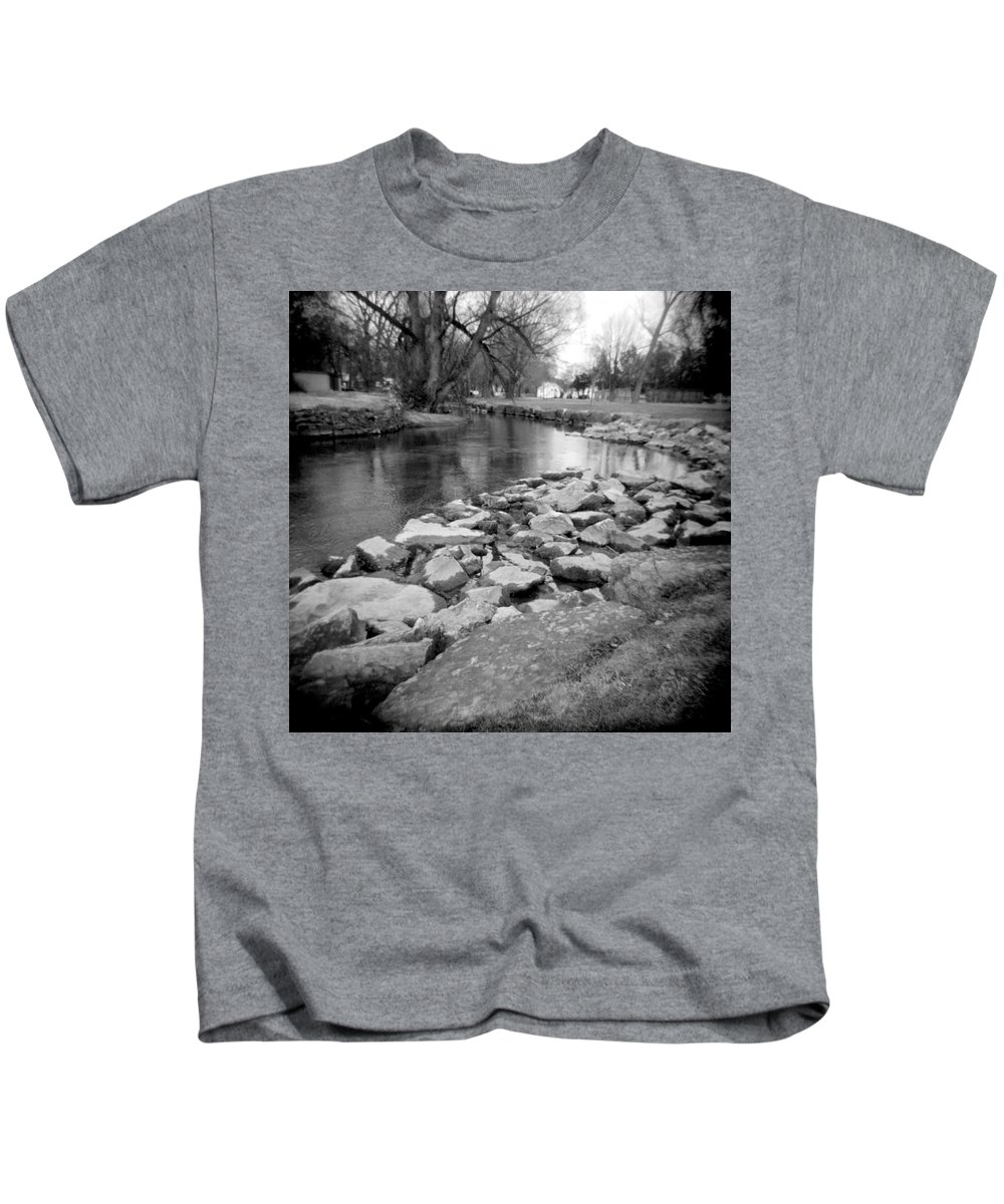 Photograph Kids T-Shirt featuring the photograph Le Tort Spring Run by Jean Macaluso