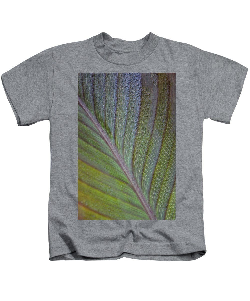 Leaf Kids T-Shirt featuring the photograph Leafy Texture by Modern Art