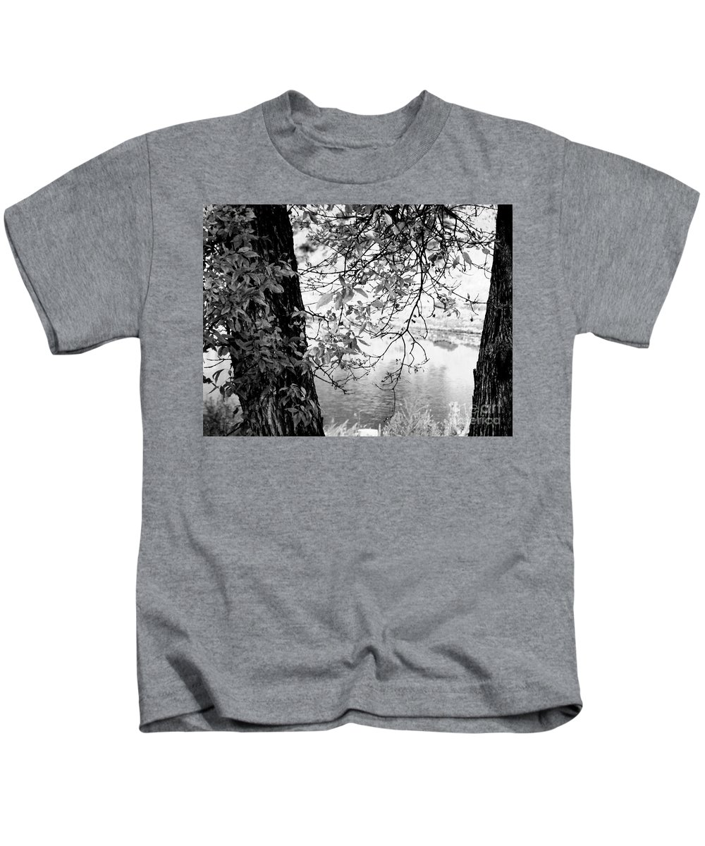 Tree Kids T-Shirt featuring the photograph Leaves Over The River by Curtis Tilleraas