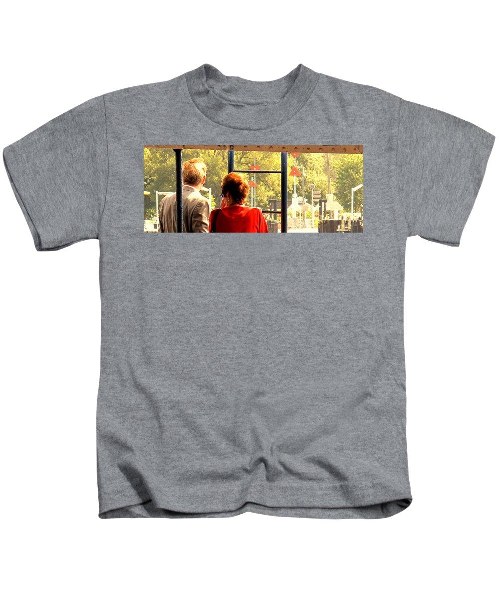Toronto Kids T-Shirt featuring the painting Leaving by Ian MacDonald