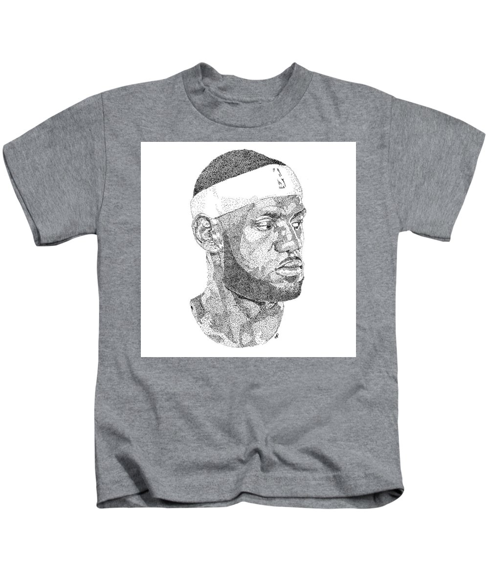 5d67f8520 Lebron James Kids T-Shirt for Sale by Marcus Price