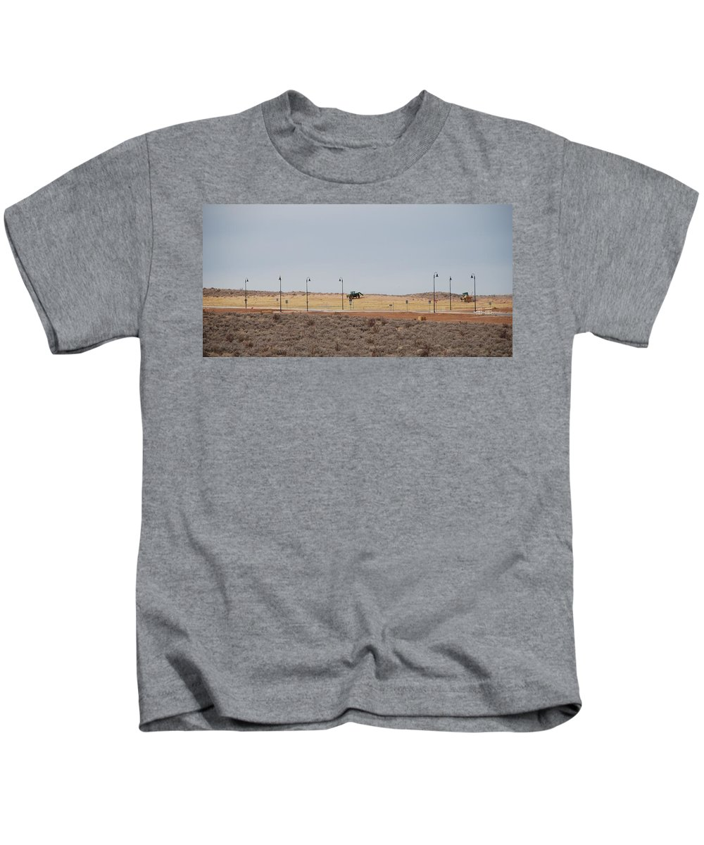 Trackor Kids T-Shirt featuring the photograph Levels Of Land by Rob Hans
