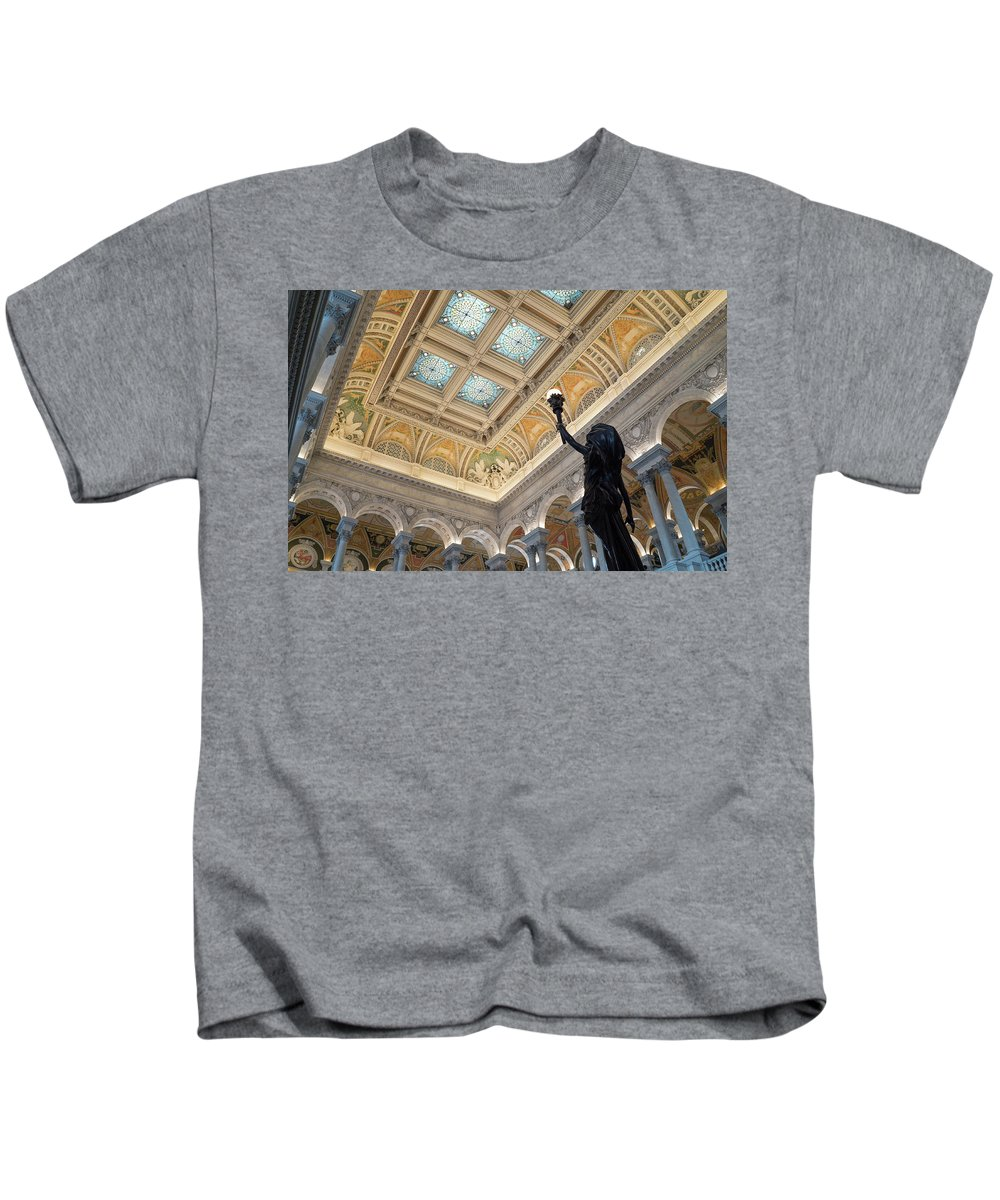 Kids T-Shirt featuring the photograph Library Of Congress Great Hall IIi by Jared Windler