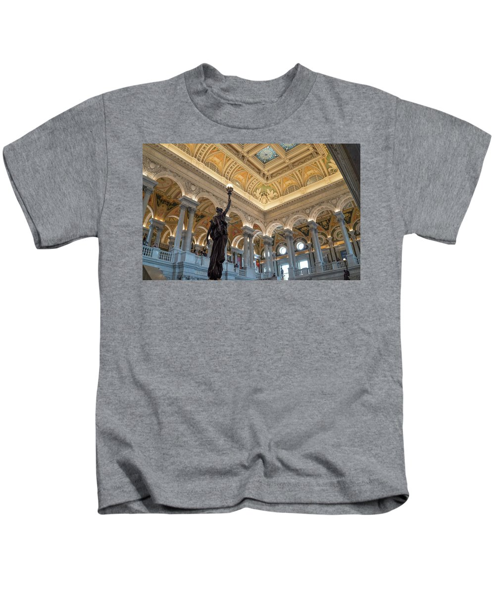 Kids T-Shirt featuring the photograph Library Of Congress by Jared Windler