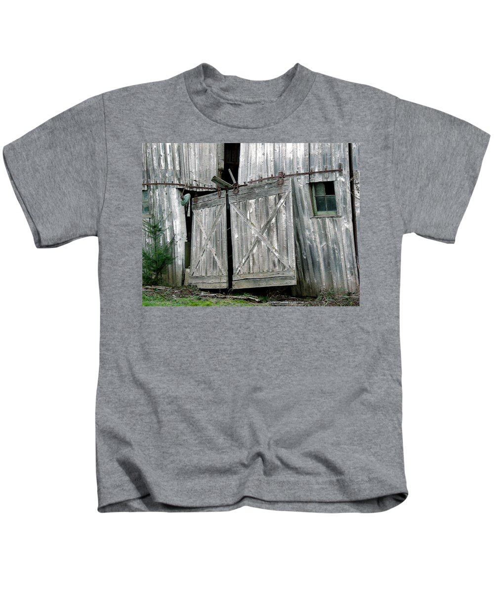 Barn Kids T-Shirt featuring the digital art Life Among The Ruins by RC DeWinter
