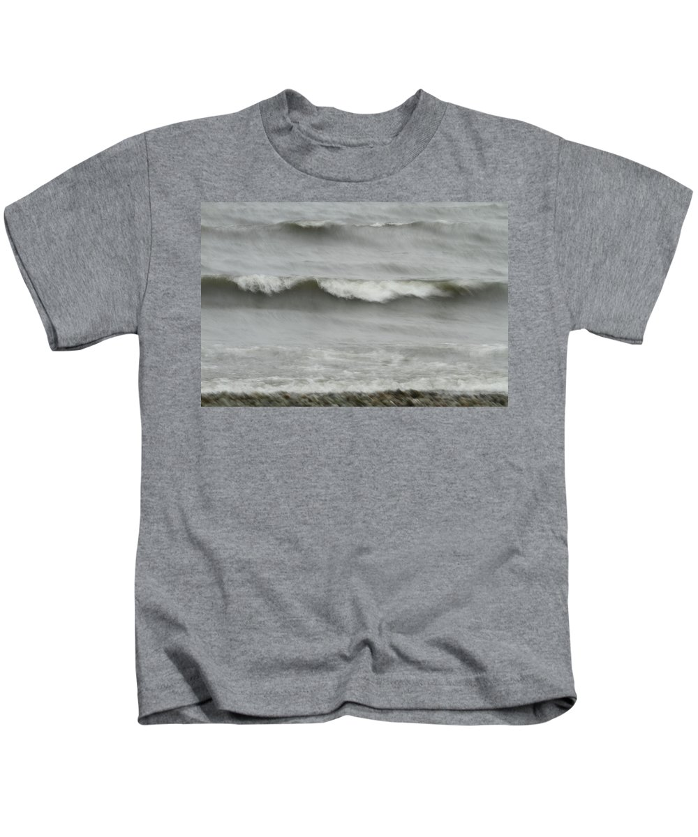 Coastal Kids T-Shirt featuring the photograph Life Is Like A Wave by Karol Livote