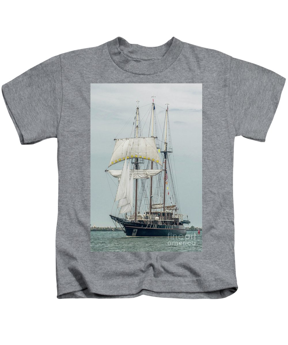 Tall Ships Kids T-Shirt featuring the photograph Limited Sails by Wayne Heim