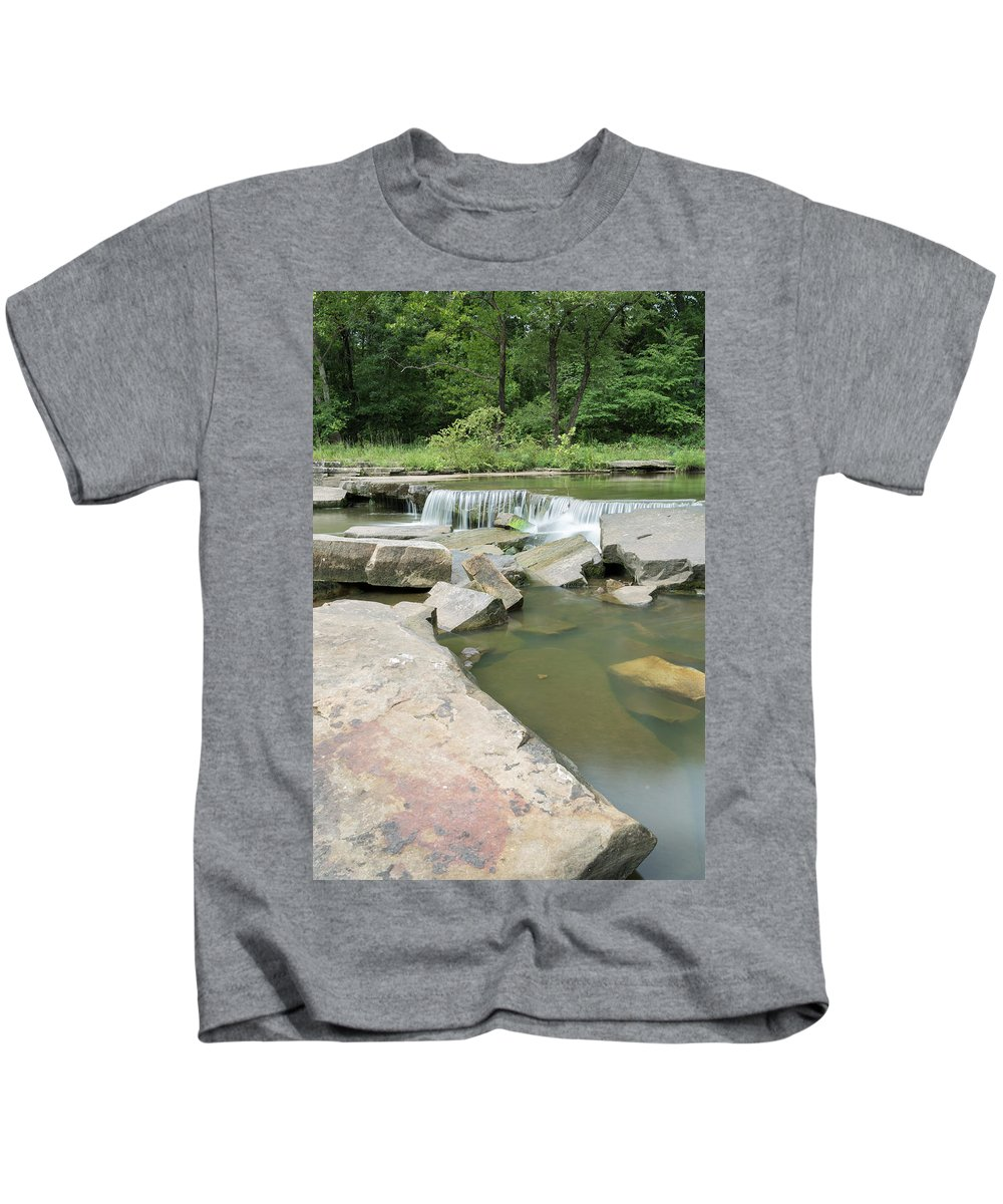Water Kids T-Shirt featuring the photograph Water Fall by Charlie Krajacic