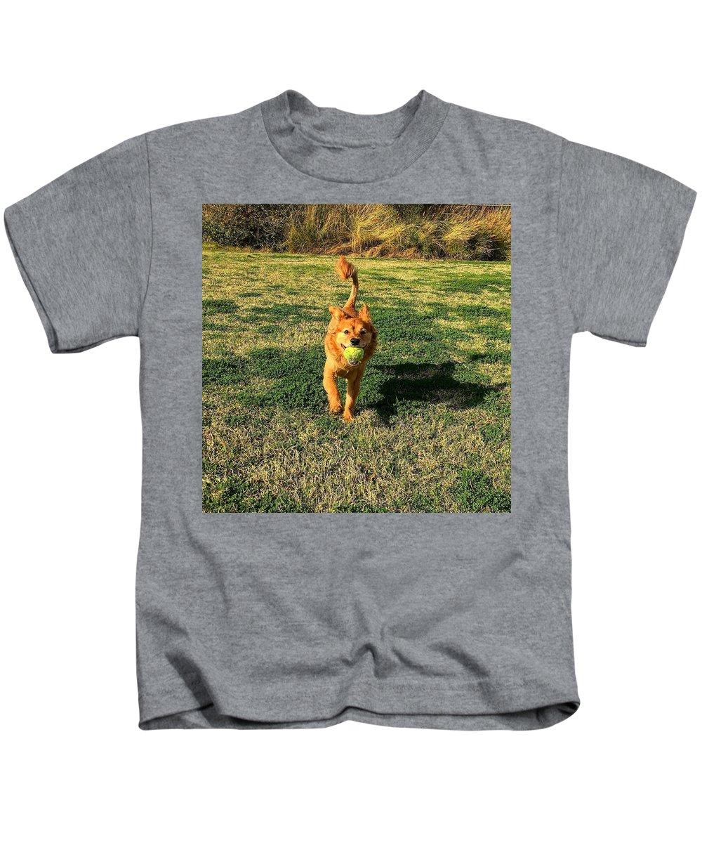 Lion Kids T-Shirt featuring the photograph Little Lion by Xavier Moran