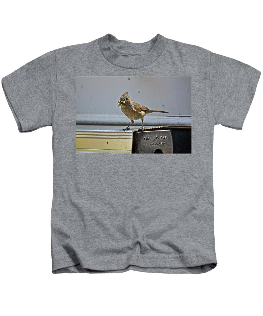Birds Kids T-Shirt featuring the photograph Little Mother by Diana Hatcher