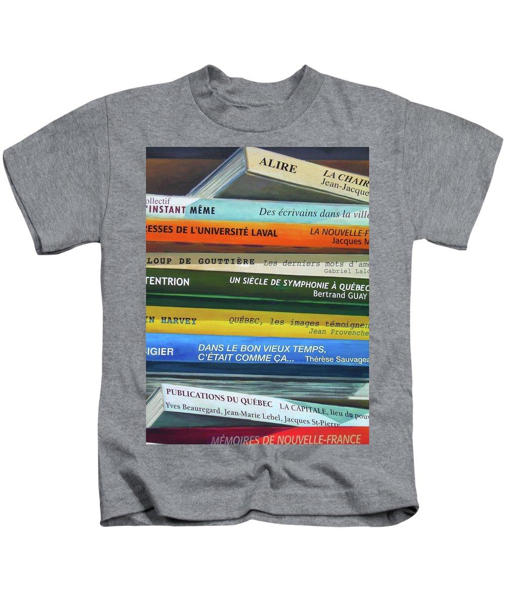 Paint Kids T-Shirt featuring the photograph Livres ... by Juergen Weiss