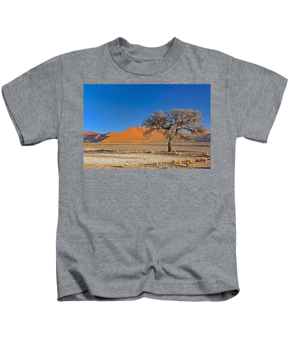 Lonely Kids T-Shirt featuring the photograph Lonely Tree In Sossusvlei by Aivar Mikko