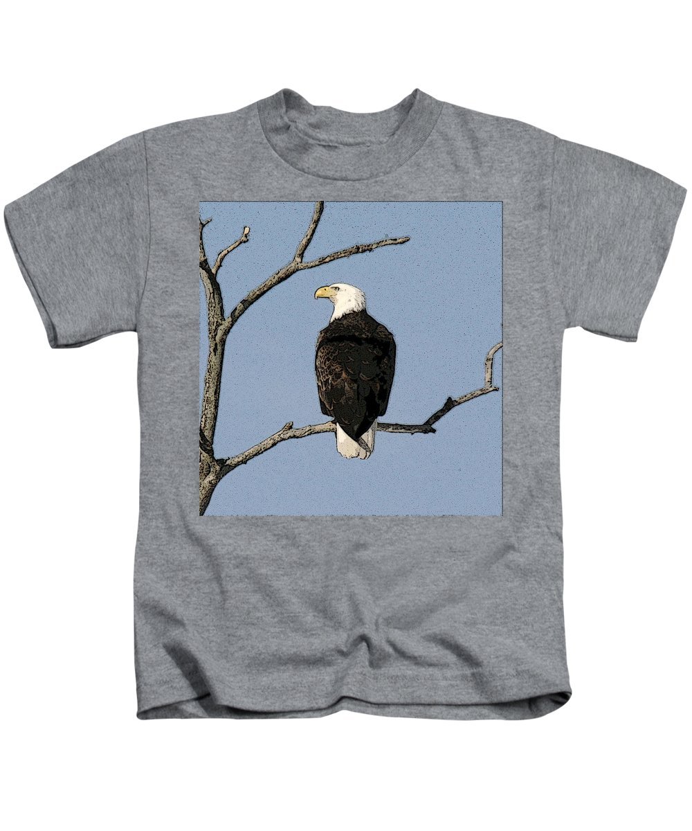 Eagle Kids T-Shirt featuring the photograph Look Out by Robert Pearson