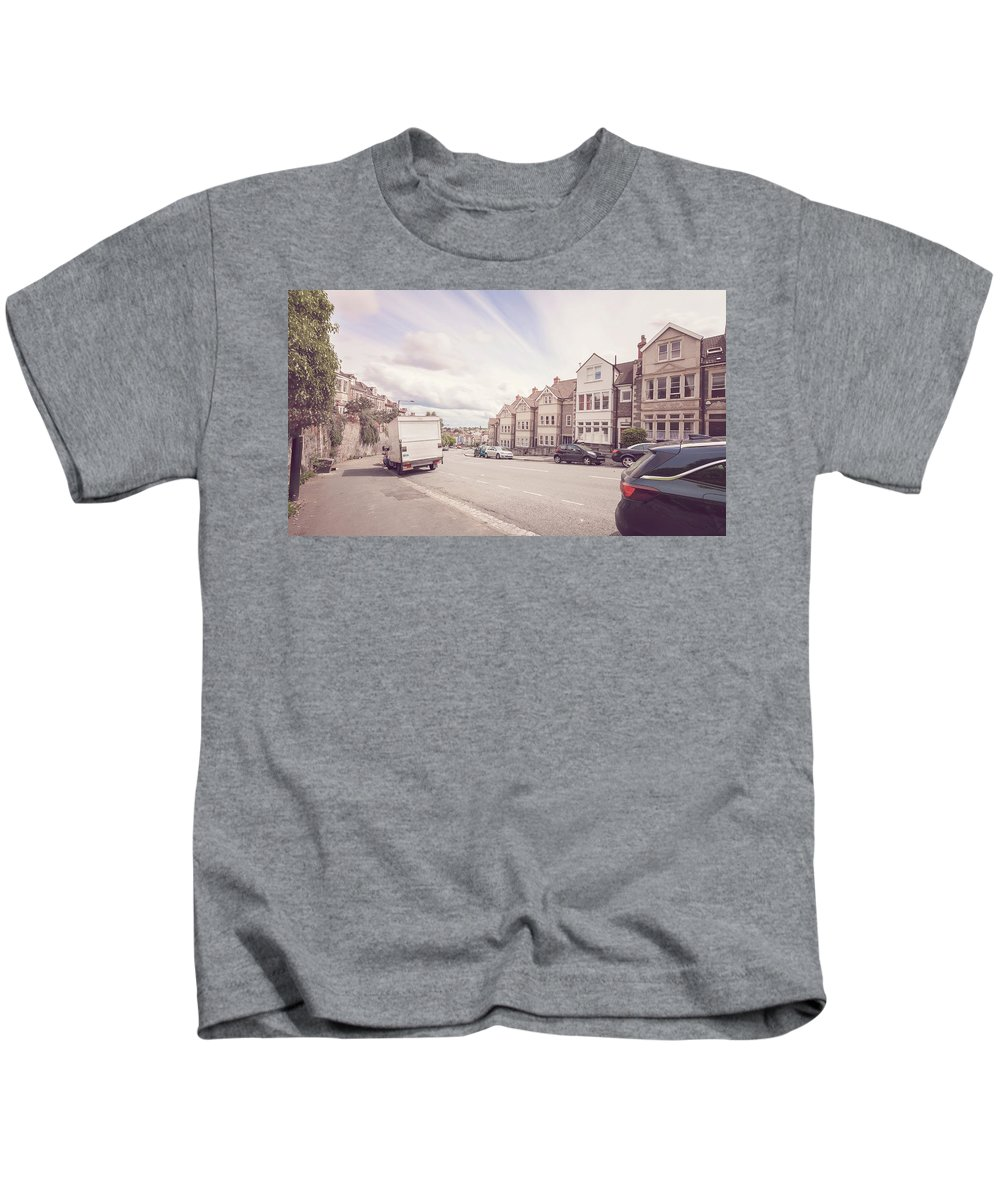 Architecture Kids T-Shirt featuring the photograph Looking Down Redland Road D Bristol England by Jacek Wojnarowski