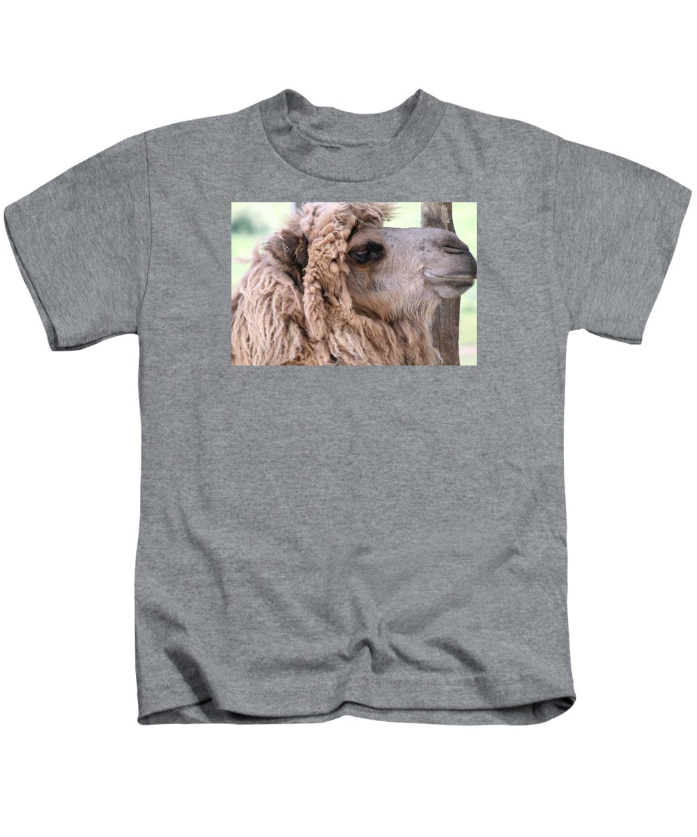 Camel Kids T-Shirt featuring the photograph Looking Good by Wendy Gertz