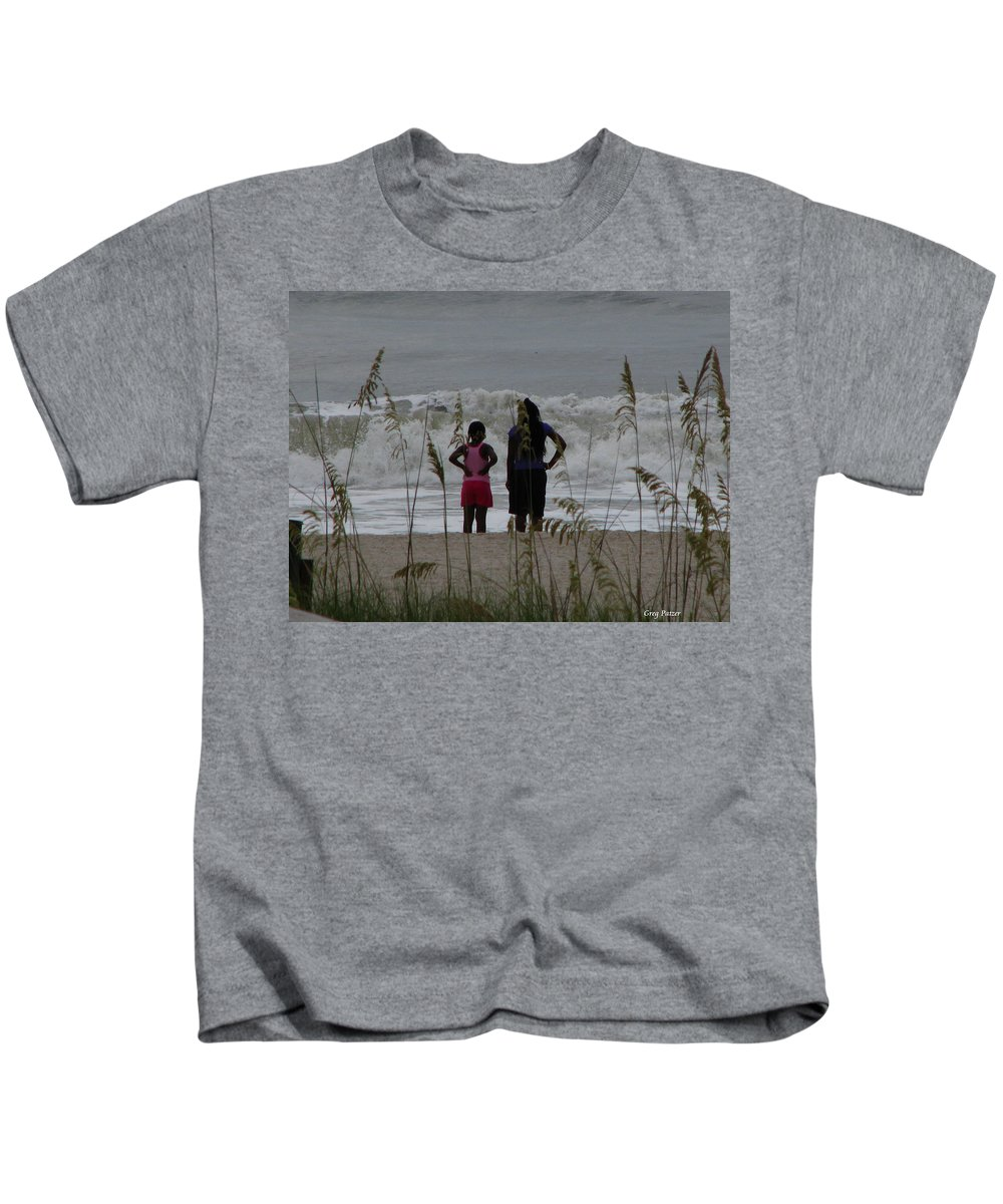 Patzer Kids T-Shirt featuring the photograph Looking by Greg Patzer