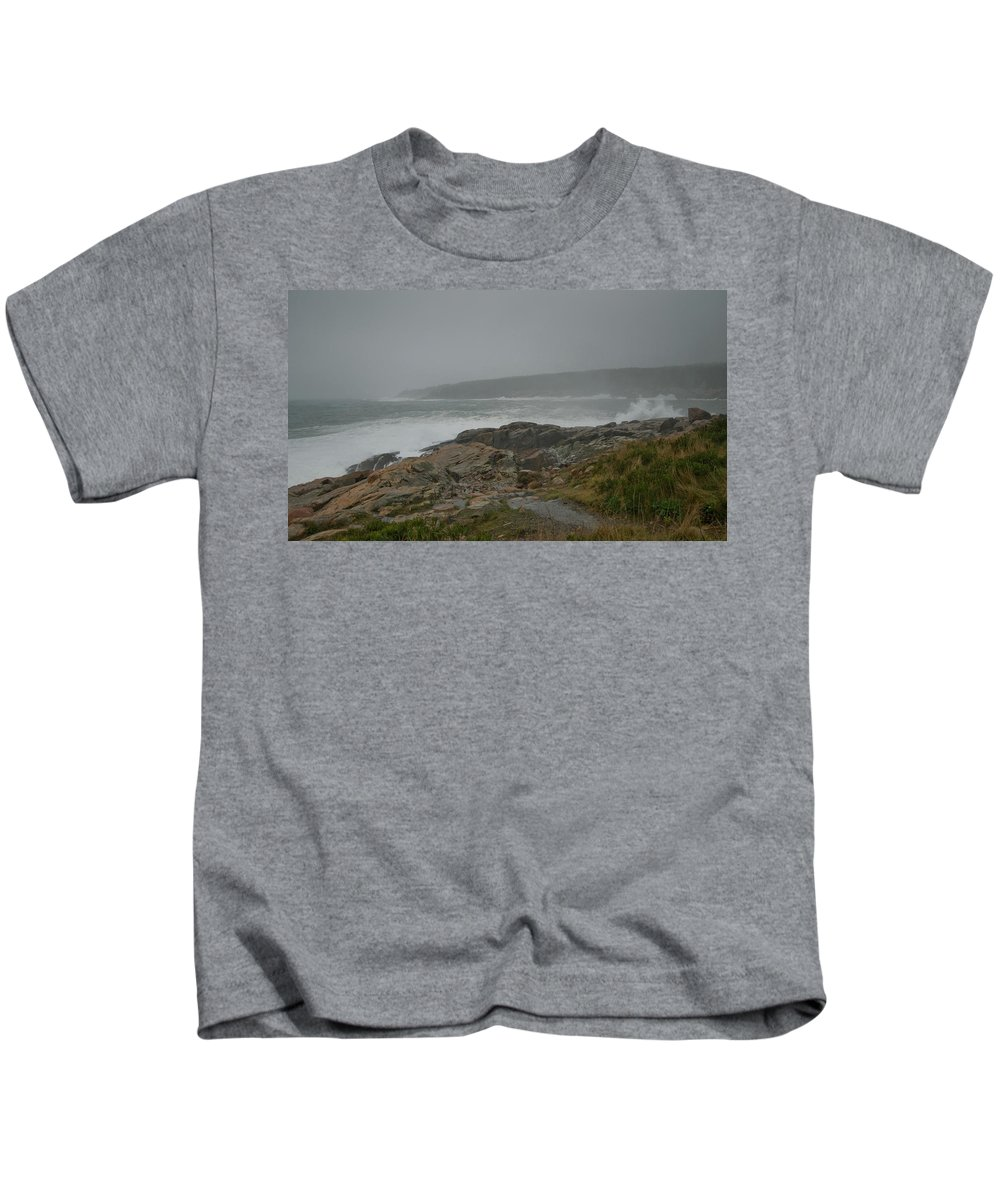 nor' Easter Kids T-Shirt featuring the photograph Looks Like Rain by Paul Mangold