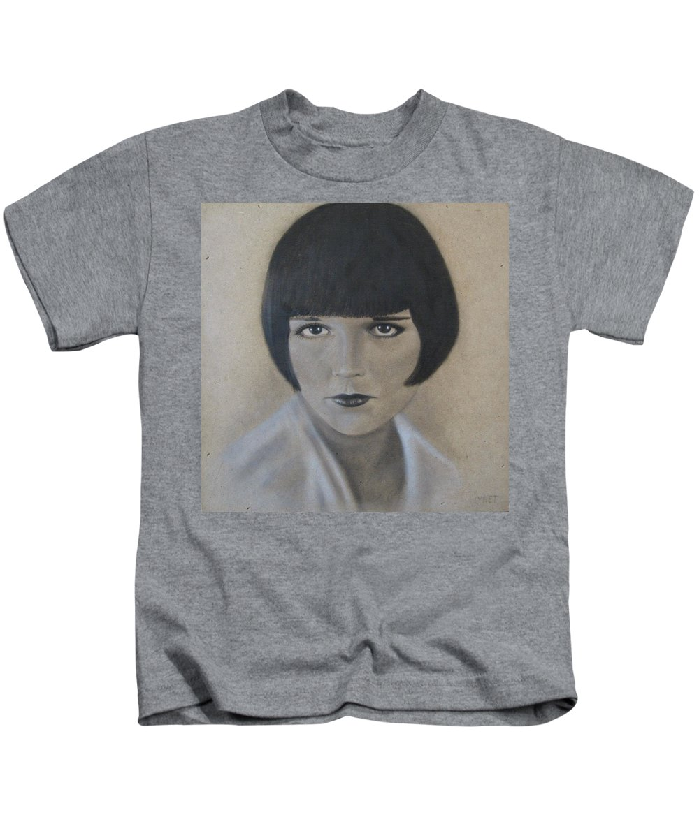 Woman Kids T-Shirt featuring the painting Louise by Lynet McDonald