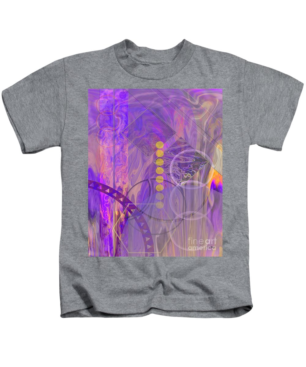 Lunar Impressions 3 Kids T-Shirt featuring the digital art Lunar Impressions 3 by John Beck