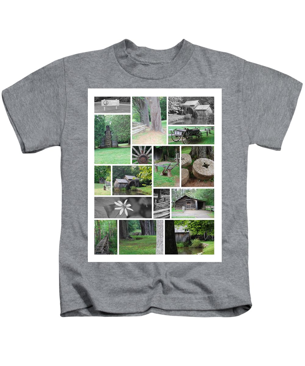 Water Kids T-Shirt featuring the photograph Mabry Mill by Eric Liller
