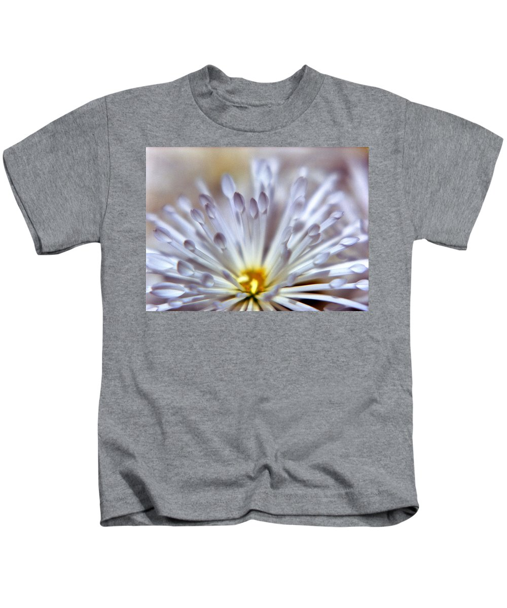 Macro Kids T-Shirt featuring the photograph Macro Flower 3 by Lee Santa