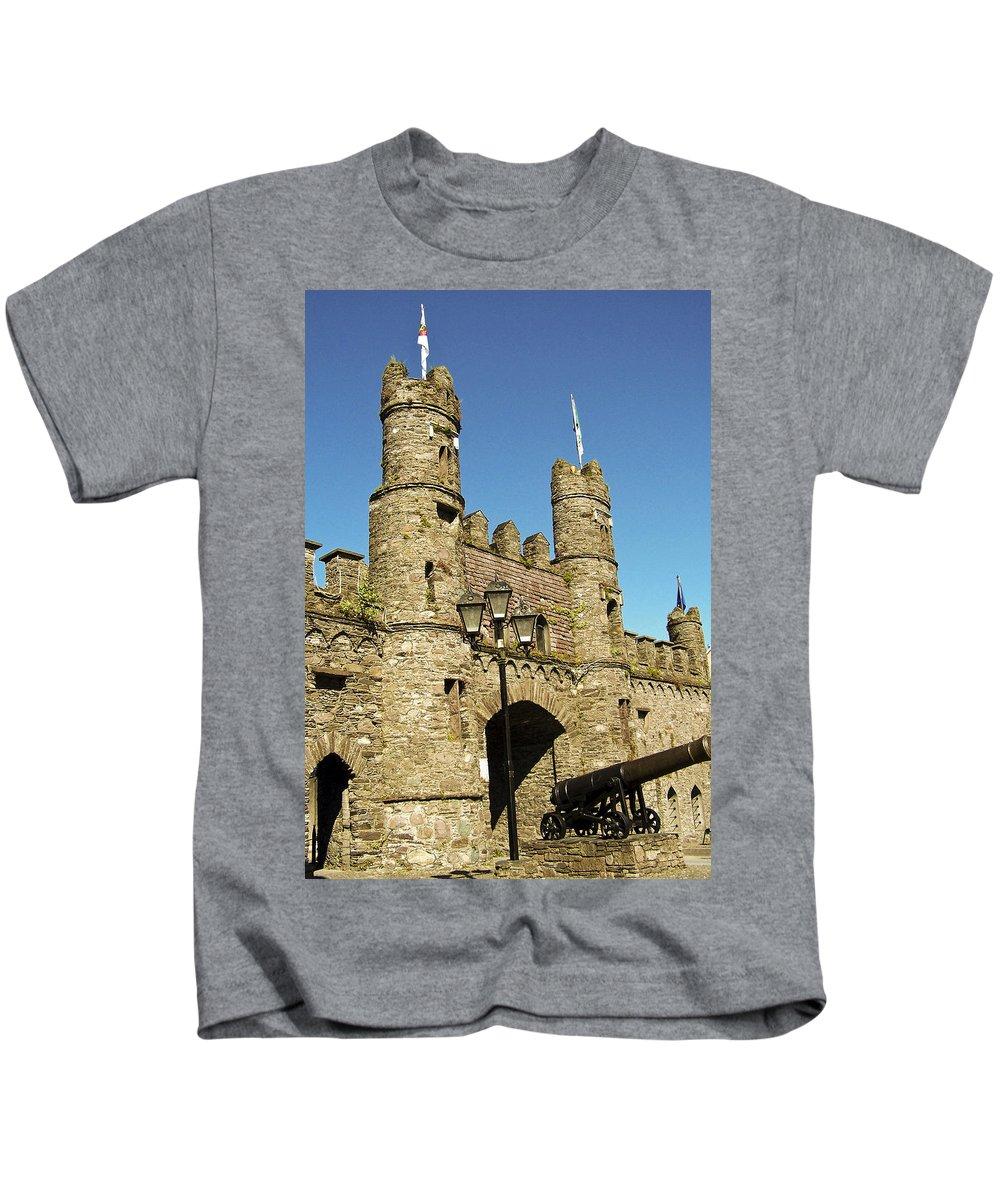 Irish Kids T-Shirt featuring the photograph Macroom Castle County Cork Ireland by Teresa Mucha