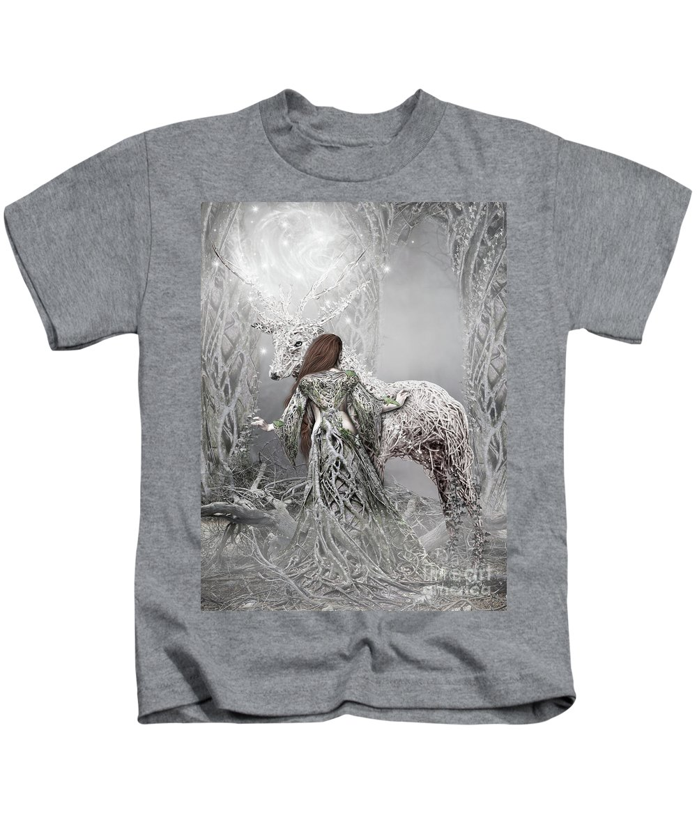 Fantasyart Kids T-Shirt featuring the digital art Magic Moments by Babette Van den Berg
