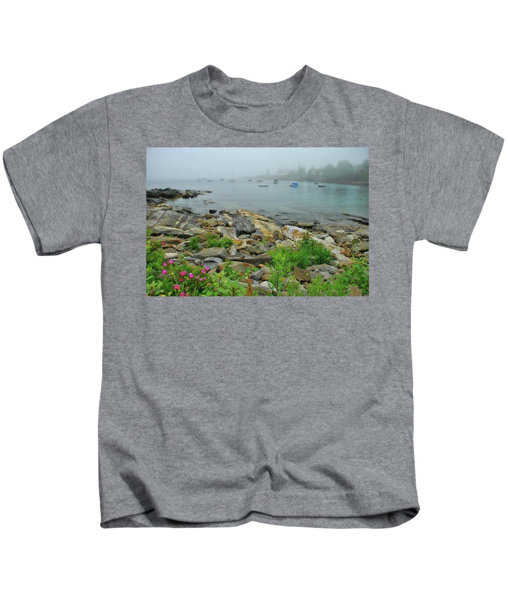 Maine Kids T-Shirt featuring the photograph Maine Cove by Allen Beatty