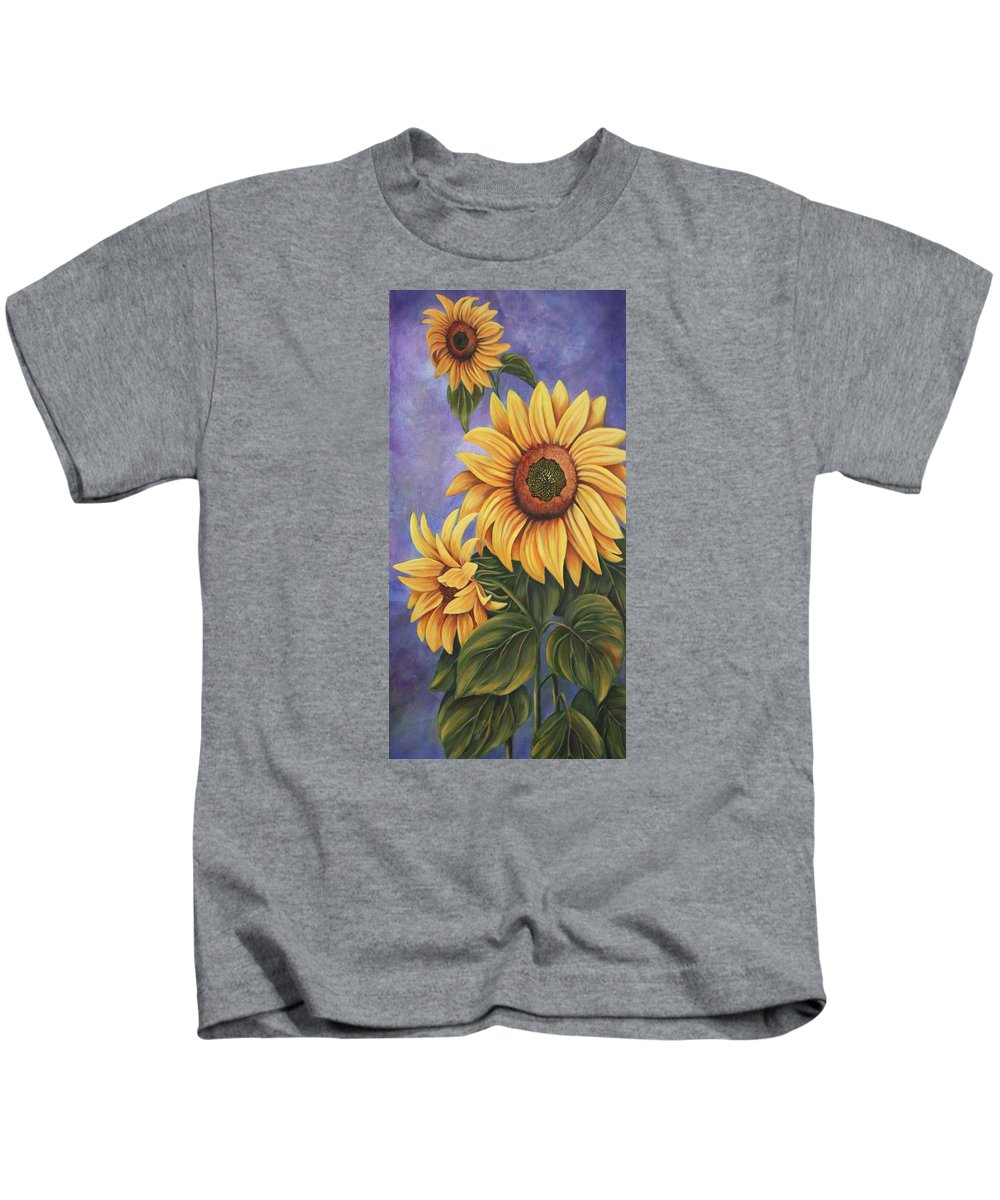 Floral Kids T-Shirt featuring the painting Majestic by Elizabeth Bard