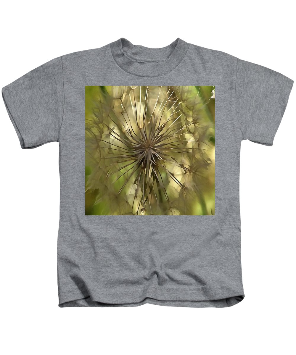 Salsify Kids T-Shirt featuring the painting Make A Wish by Taiche Acrylic Art