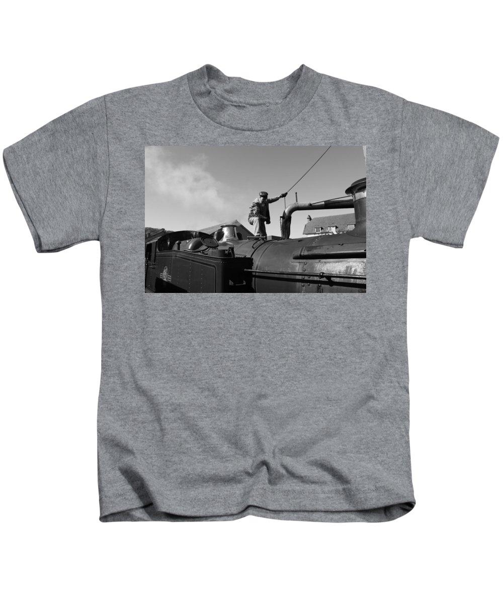 Steam Kids T-Shirt featuring the photograph Making Steam 2 by Lauri Novak