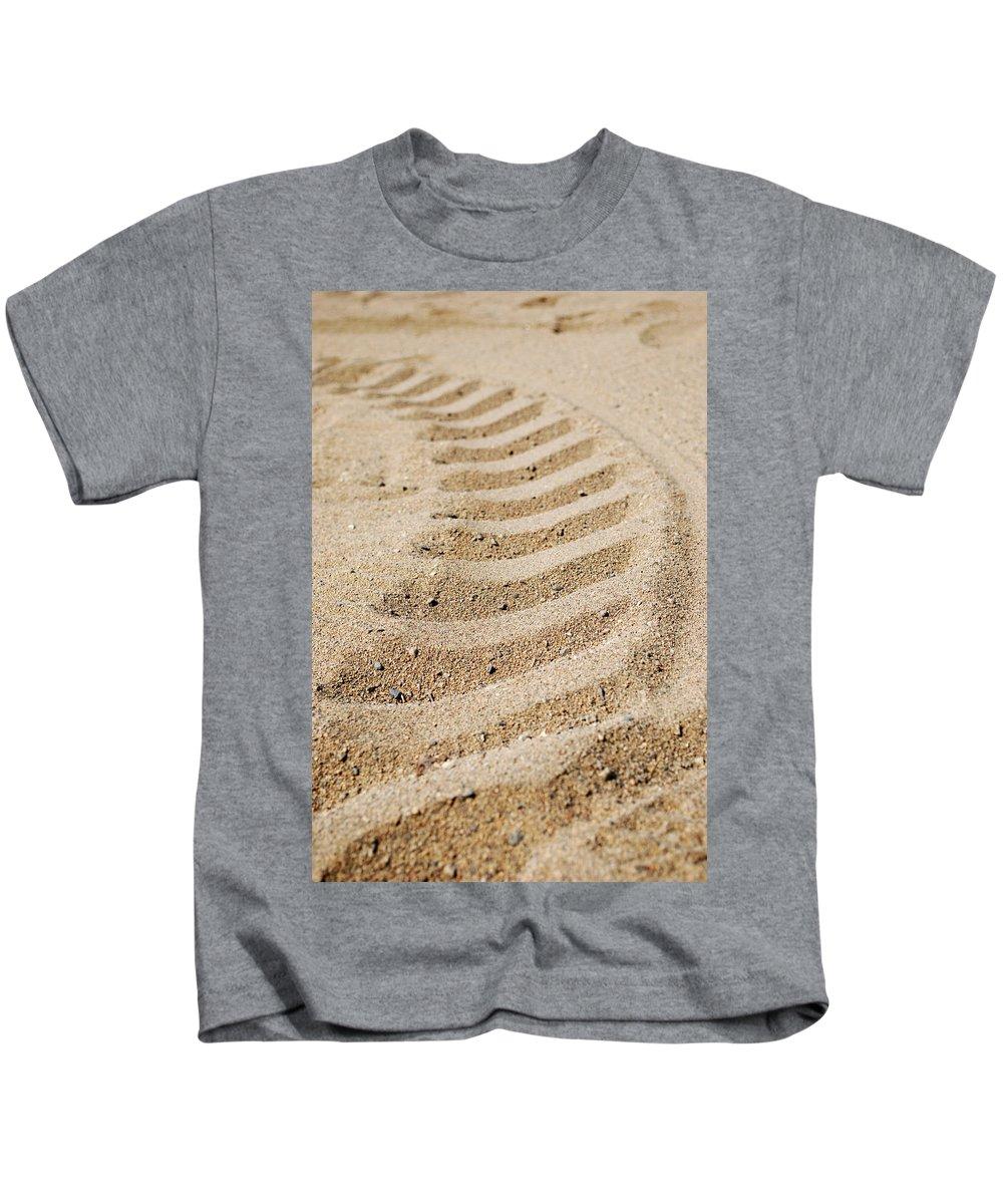 Lisa Knechtel Kids T-Shirt featuring the photograph Making Tracks by Lisa Knechtel