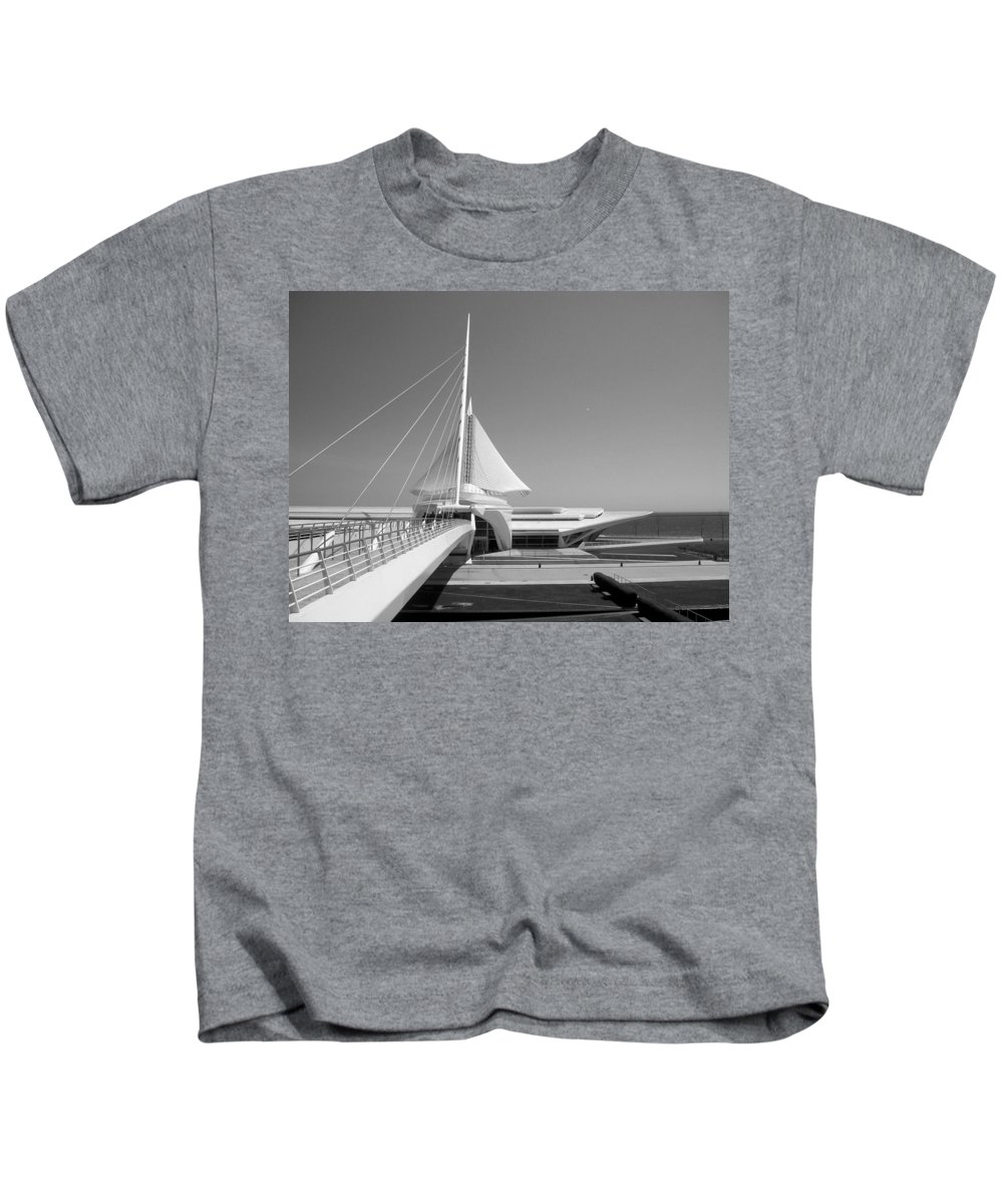 Mam Kids T-Shirt featuring the photograph Mam Spreading Wings B-w by Anita Burgermeister