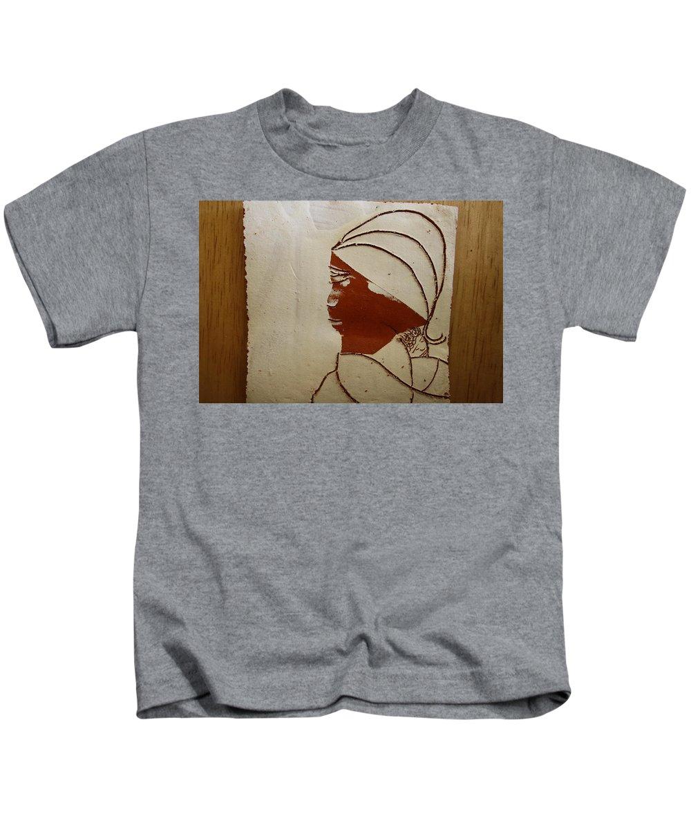 Jesus Kids T-Shirt featuring the ceramic art Mama 4 - Tile by Gloria Ssali