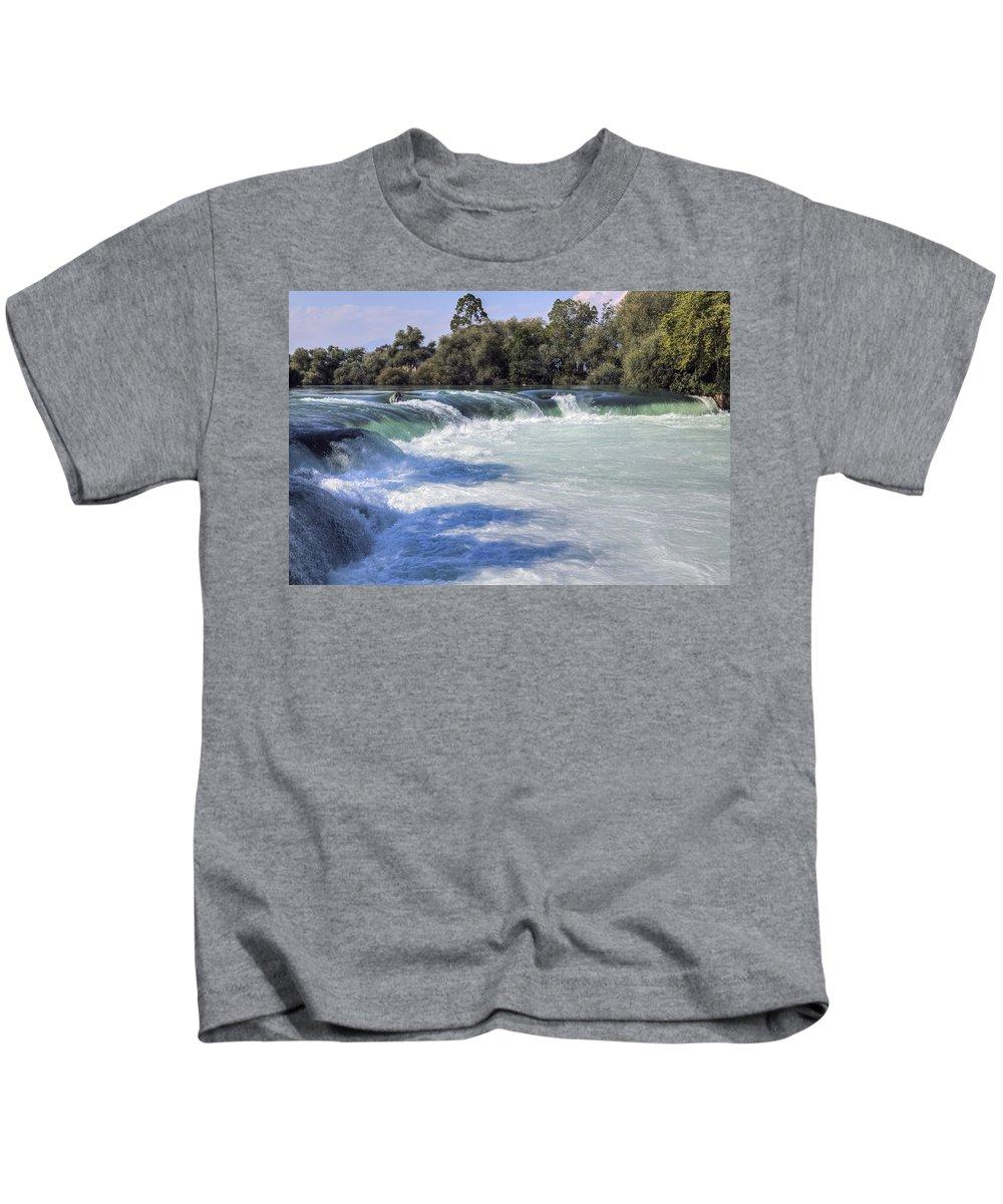 Manavgat Waterfall Kids T-Shirt featuring the photograph Manavgat Waterfall - Turkey by Joana Kruse