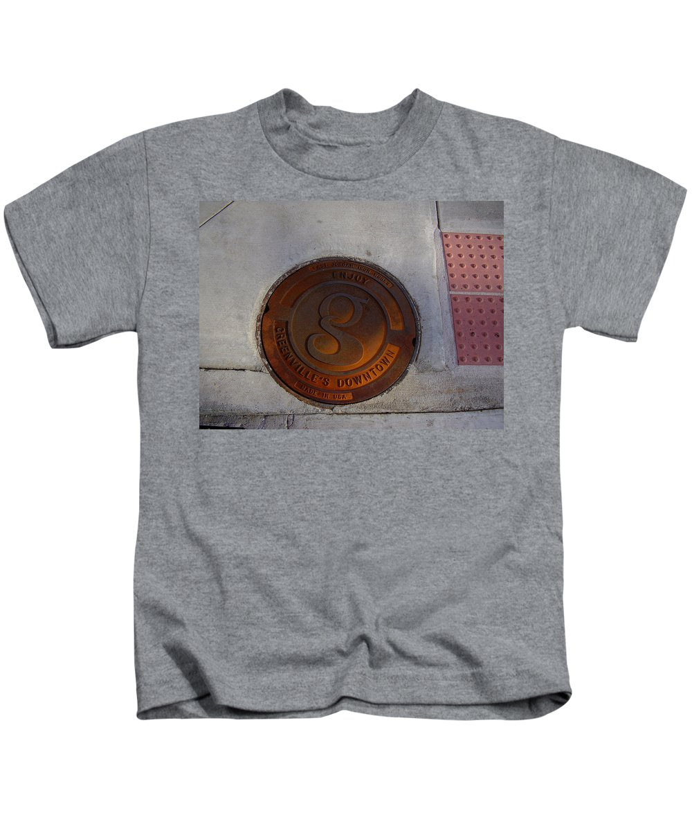 Manhole Kids T-Shirt featuring the photograph Manhole I by Flavia Westerwelle