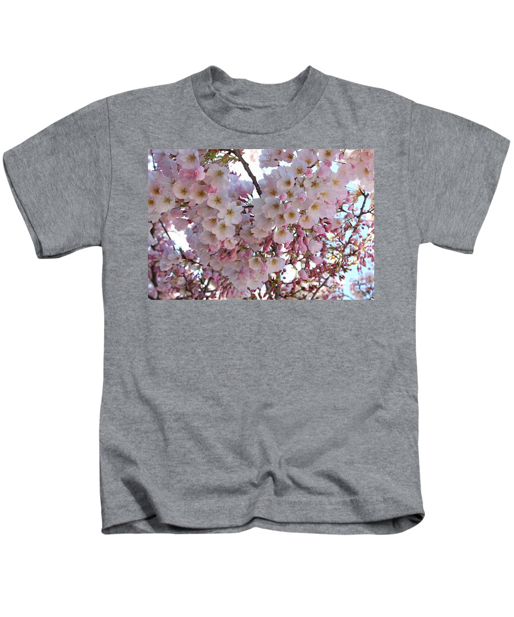 Pink Blossoms Kids T-Shirt featuring the photograph Many Pink Blossoms by Carol Groenen