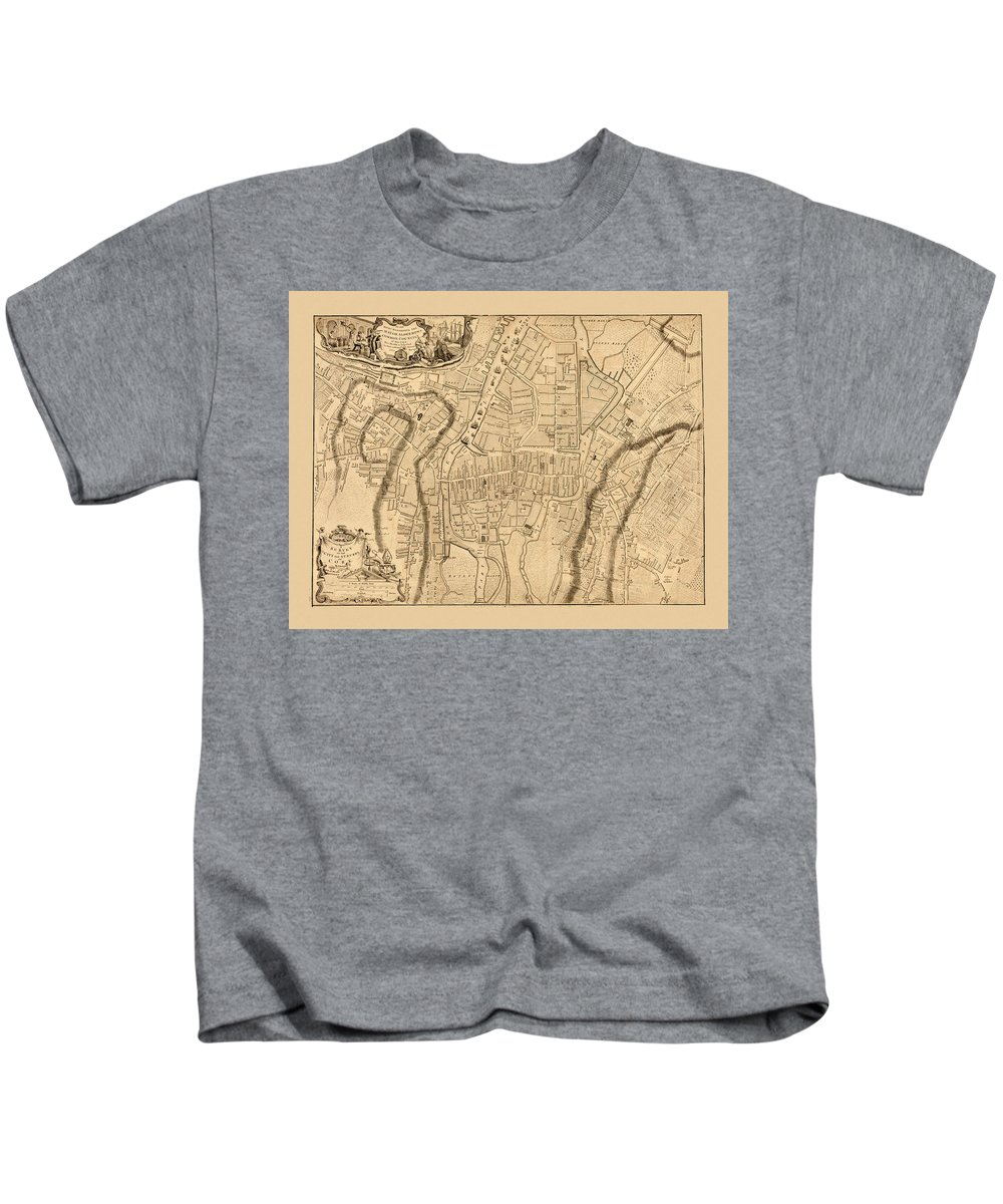 Map Of Cork Kids T-Shirt featuring the photograph Map Of Cork 1771 by Andrew Fare