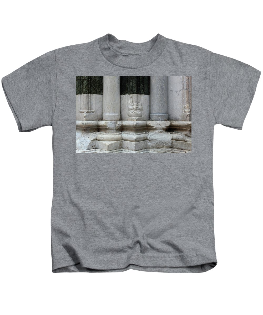 Horizontal Kids T-Shirt featuring the photograph Marble Columns by Stefania Levi