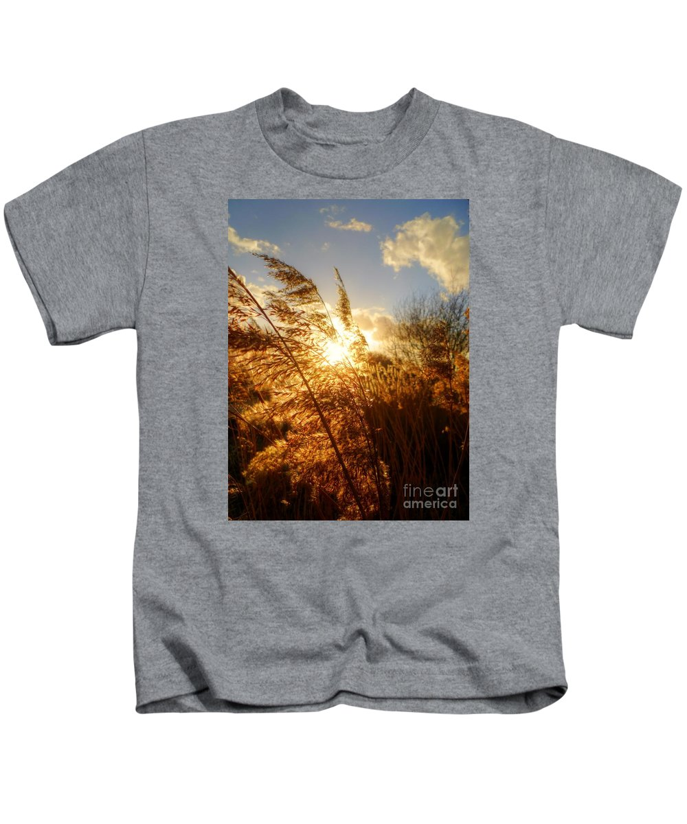 Marshes Kids T-Shirt featuring the photograph Marsh Sunset by Vicki Spindler
