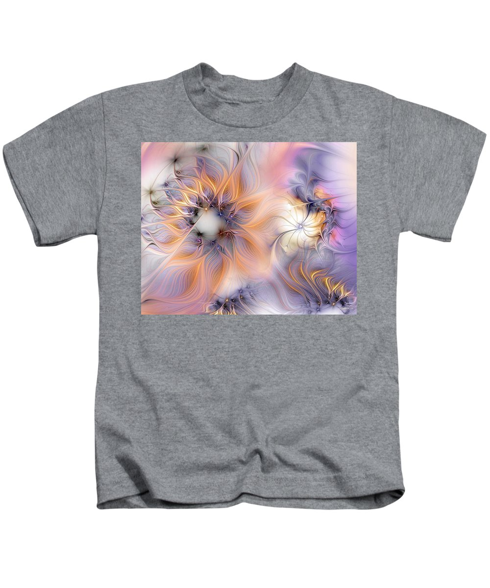 Abstract Kids T-Shirt featuring the digital art Marvel by Casey Kotas