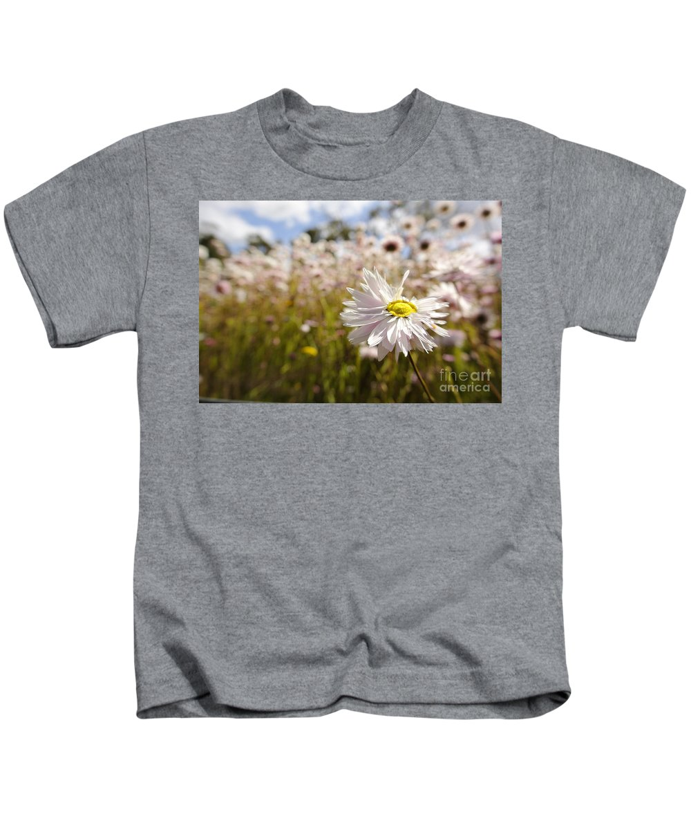 Paper Flower Kids T-Shirt featuring the photograph Marvelous Imperfection by Oscar Moreno